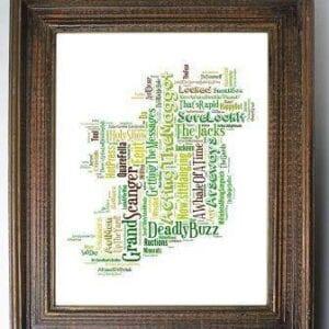 irish slang map frame