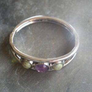 Bracelet with Connemara marble and Amethyst