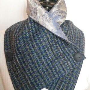 Ladies Irish Tweed Cowl scarf
