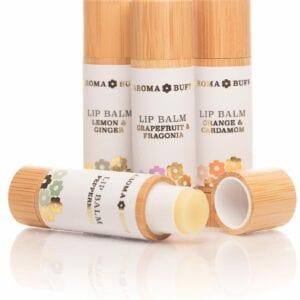 AromaBuff Set of 4 beeswax Lip Balms