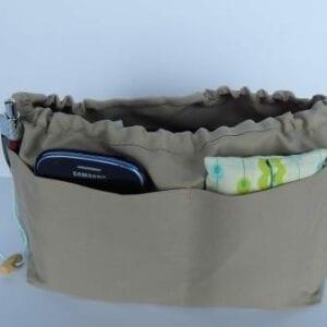 Beige Handbag Liner