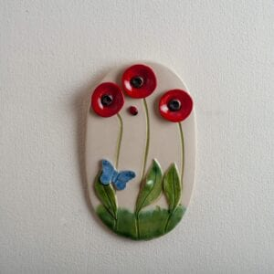 3. Poppy Wall Plaque