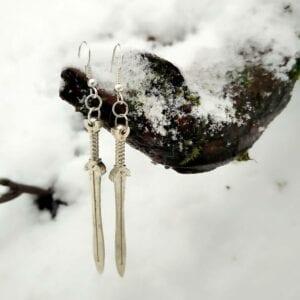 celtic sword earrings 1