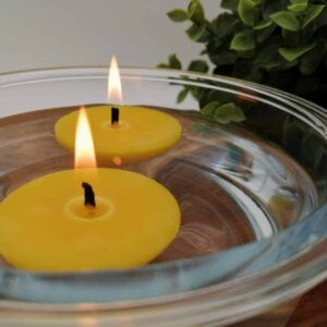Floating beeswax candles (6)