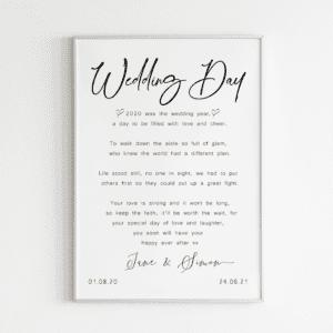 insta wedding day poem