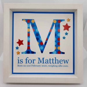 M is for Matthew _personliased_gift_baby
