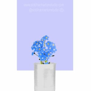 forget me nots in a can Periwinkle small square copy