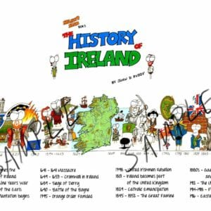 Manny Man Does the History of Ireland timelinne Poster sample