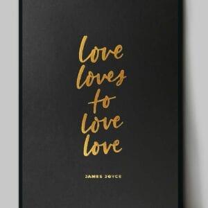 loveloves_goldblack_A3mockupframe