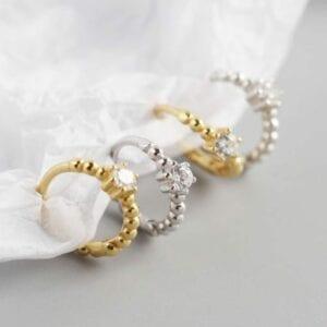Beth Gold Huggie Earrings 2