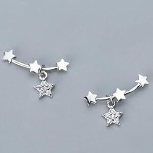 Sterling Silver Star Ear Climber