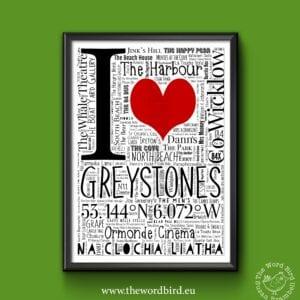I Love Greystones The Word Bird