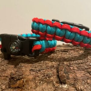 Red & turquoise black buckle