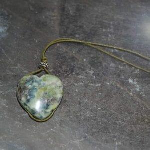 Connemara marble heart charm
