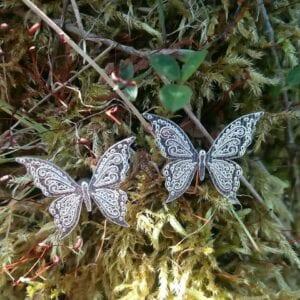 zodiac butterfly earrings