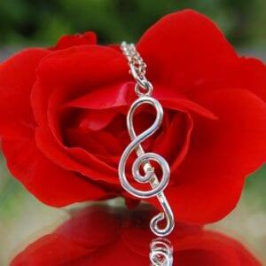 Treble clef rose