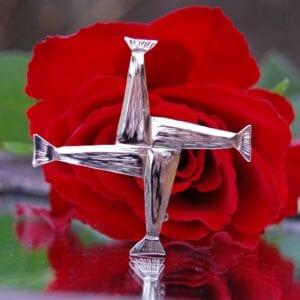 Saint Brigids cross silver new