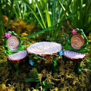 fairy furniture table and chair set