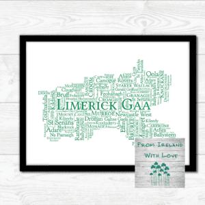Limerick Gaa Clubs Wall Art Print IRL