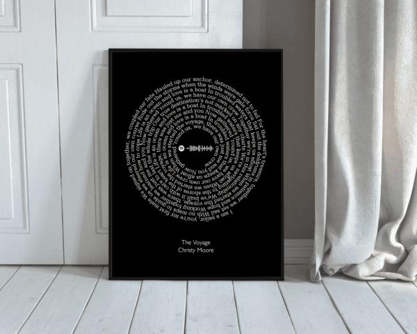 a4 frame black spotify large - Copy