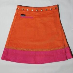 Moshiki Pink and Orange Cord Skirt 1