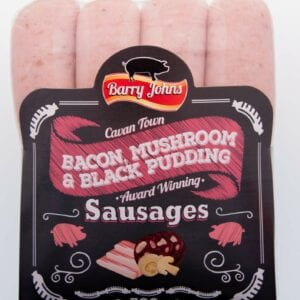 Bacon, Mushroom & Black Pudding Barry John Sausages