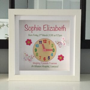 As Cute as a Button Frames personalised