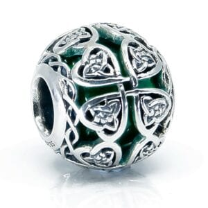 Green Irish glass Charm for website 1 new for amazon 3000