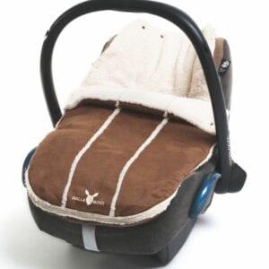 Wallaboo footmuff newborn chocolat new model
