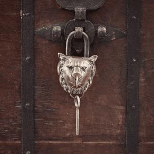 NK: LP3001 lion brass padlock C1