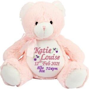 Pink baby zippie birth bear trans