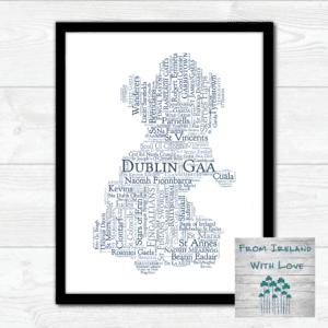 Dublin GAA Clubs Wall Art Print Irl