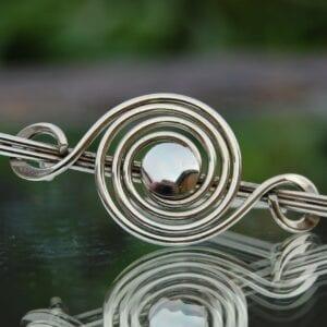 Celtic spiral silver