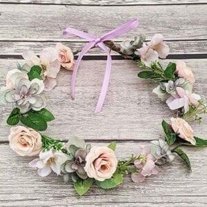 Faux floral crown DIY kit