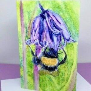 Bluebells & bee card