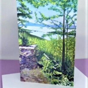Woodland trail to the sea - card