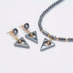 Hem triangle set earrings