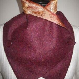 Tweed Scarf Burgandy