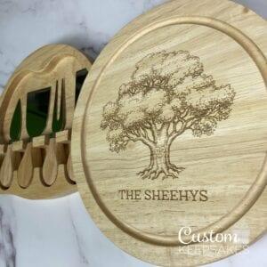 CHB001 - Engraved Oak Cheese Board 5
