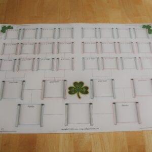 Small Celtic Family Tree Chart x1
