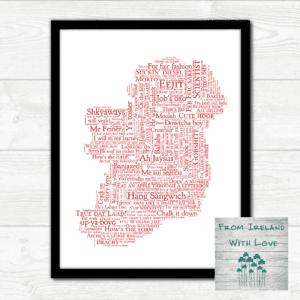 Cork Craic Map Wall Art Print Irl