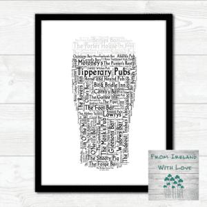 A Pint of Tipperary Pubs Wall Art Print IRL