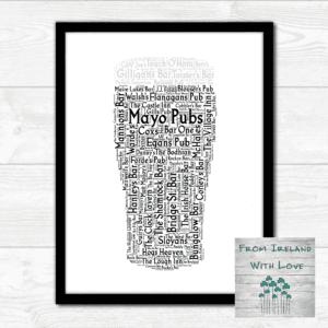 A Pint of Mayo Pubs Wall Art Print Irl