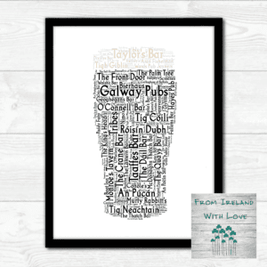 Pint of Galway Pubs Wall Art Prints IRL