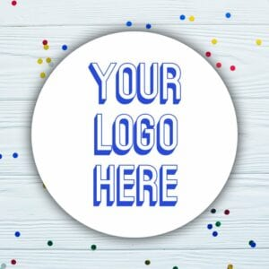 Custom Circle Business Logo Stickers