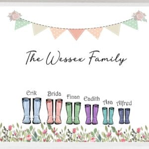 Sample Wellie Print _The Wessex Family