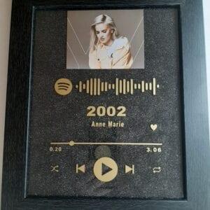 Spotify black frame-gold lettering_black background 1