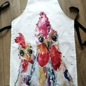 chickens apron handmade apron