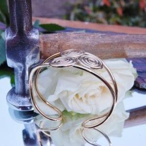Brass triskele bangle 4