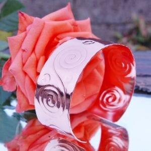 Copper scroll bangle
